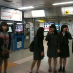 Korean school children on the underground