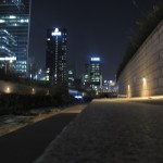 Cheonggye stream by night
