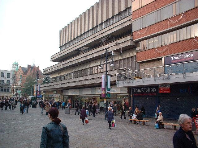 Haymarket shopping centre, Leicester 1974 (image by wikimapia.org)