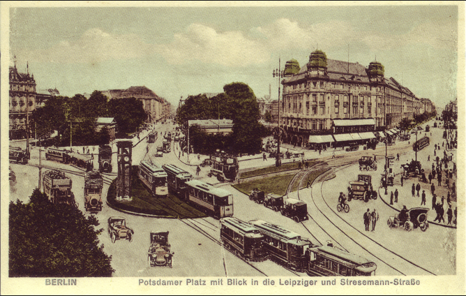 Potsdamer Platz Pre-War. The tramlines were still visible in 1994.