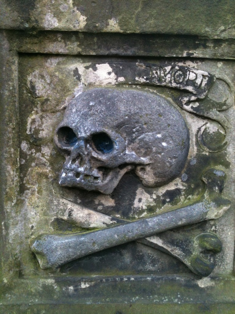 Tombstone in Greyfriars graveyard, Edinburgh (photo copyright Samira Ahmed no reuse)