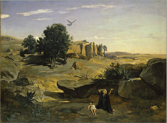 Camille Corot: Hagar in the Wilderness