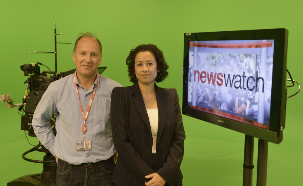 With Producer James Mallett in the Newswatch studio