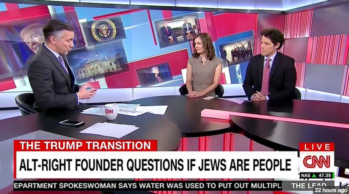CNN has apologised for this on screen caption Nov 22 2016